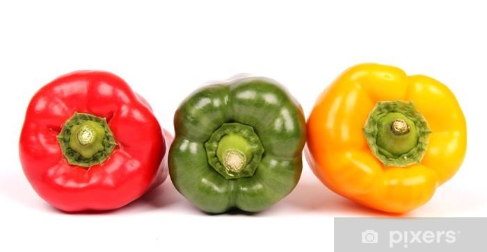 Nálepka Pixerstick Barevné Peppers - Zelenina