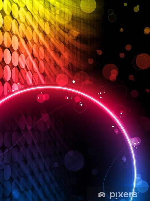 Pixerstick Aufkleber Disco Abstract Circle Box auf schwarzem Hintergrund - Hintergründe