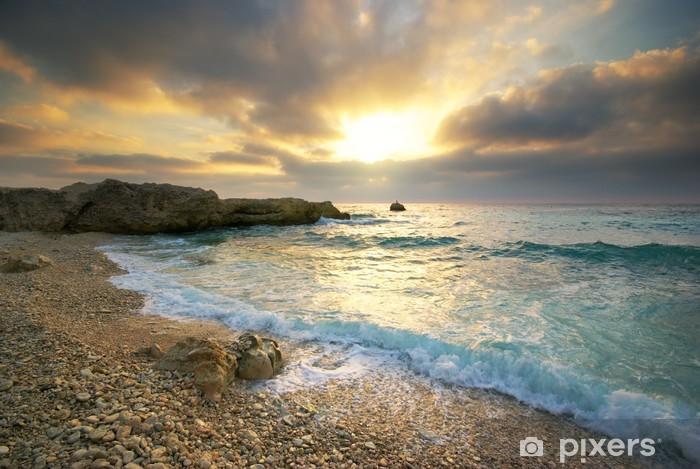 Naklejka Pixerstick Piękny krajobraz. - Woda