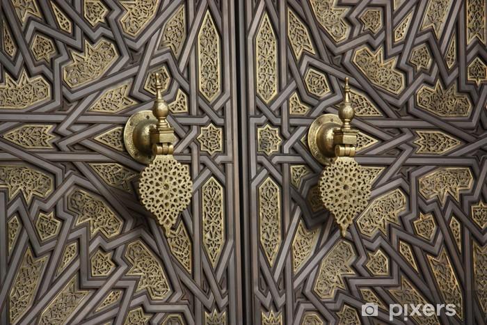 La porta del palazzo reale di Casablanca - Marocco Pixerstick Sticker - Africa