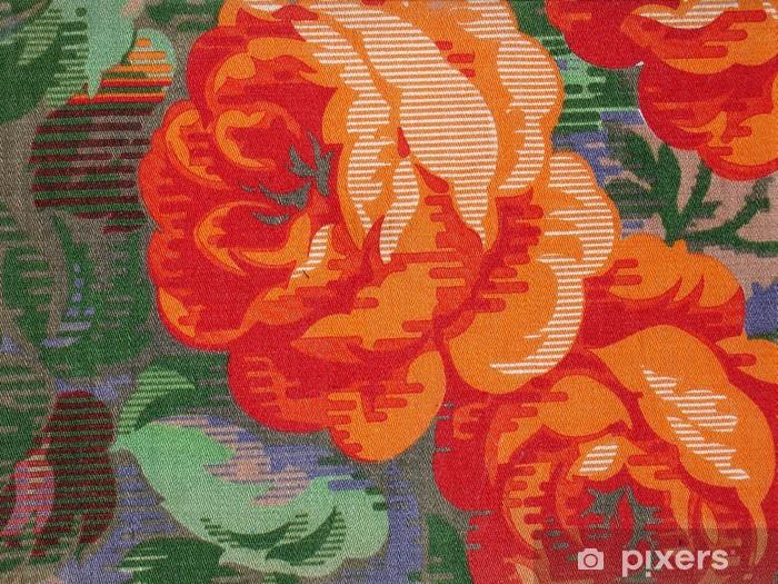 Vinylová fototapeta Vzor tkaniny růže - Vinylová fototapeta
