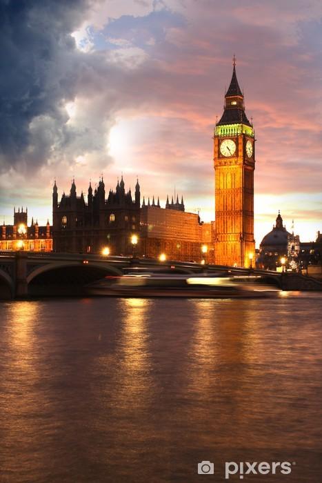 Vinylová fototapeta Big Ben večer, Londýn, Velká Británie - Vinylová fototapeta