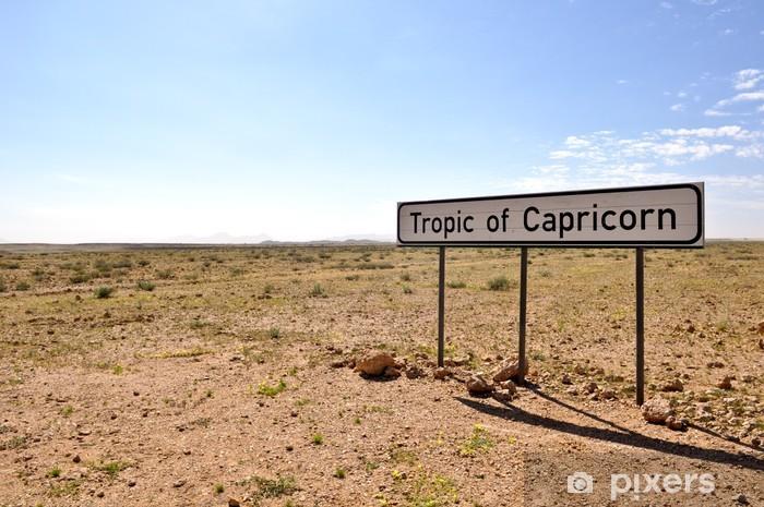 Sticker Pixerstick Tropique du Capricorne dans le panneau Namibie - Afrique