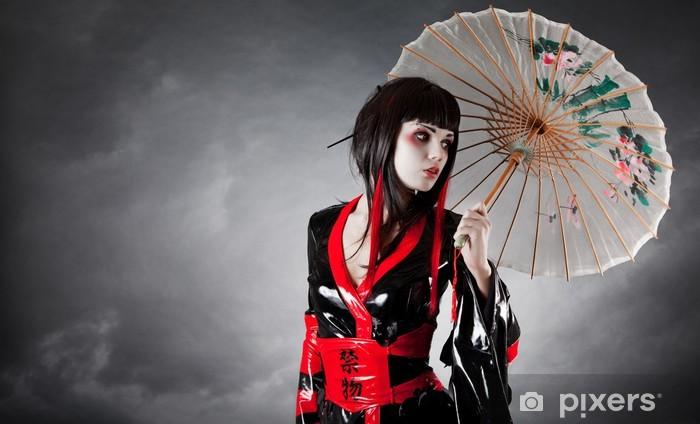 6c10d509 Fototapeta winylowa Nowoczesny styl geisha w Fetyszyzm kimono