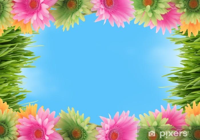 Fototapete Bunte Blumen Fruhjahr Grenze Pixers Wir Leben Um Zu