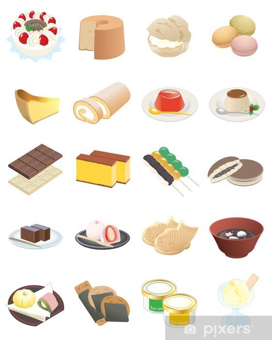 Naklejka Pixerstick Deser - Słodycze i desery
