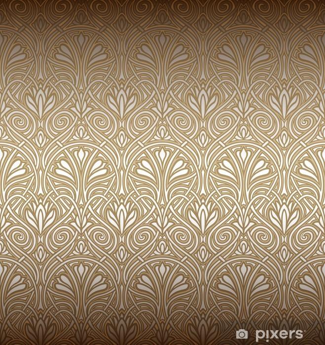 Naklejka Pixerstick Powtarzalne wzór w stylu secesyjnym - Tematy