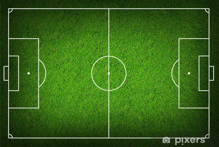 Papier peint vinyle Soccer field - Sport