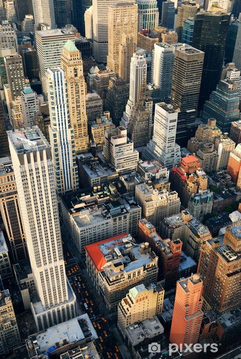 Manhattan Skyscrapers Aerial View Wall Mural Pixers We Live To Change