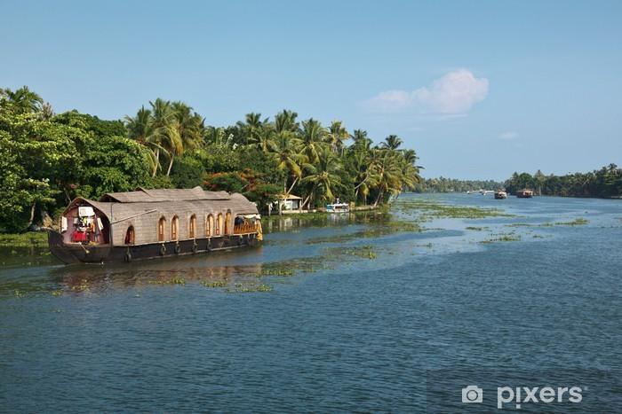 Vinyl-Fototapete Hausboot auf Kerala Backwaters, Indien - Asien