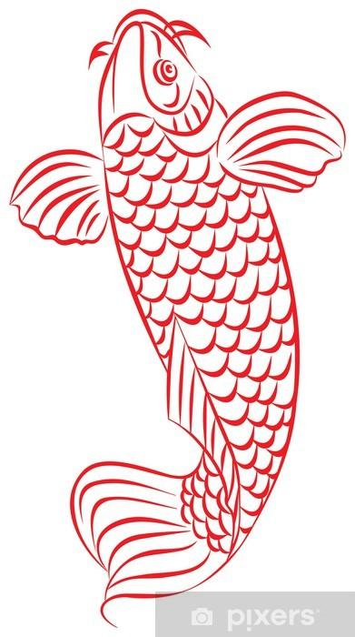Carta da parati carpa pesce rosso giapponese o un for Carpa pesce rosso