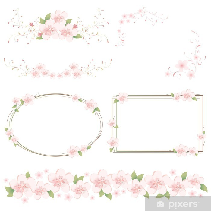 Fototapeta winylowa Set Wiosna - Znaki i symbole