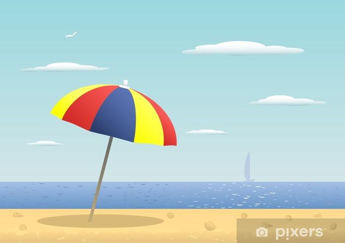 Pixerstick Aufkleber Sonnenschirm - Urlaub