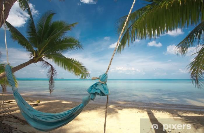 Fotomural Estándar Hamaca azul - Vacaciones
