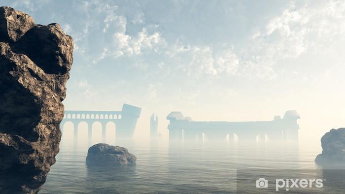 Sticker Pixerstick Derniers ruines de l'Atlantide perdue - Esotérisme