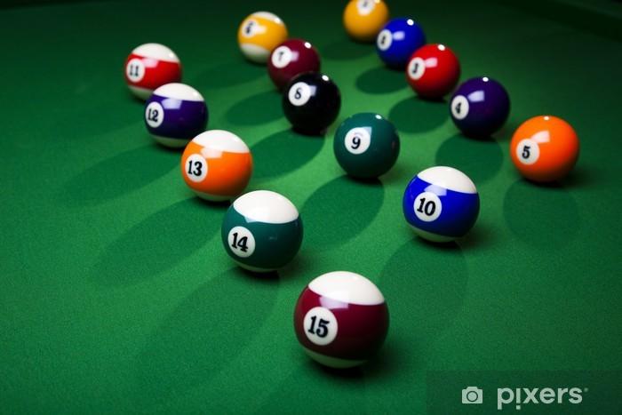 Vinyl-Fototapete Billiard balls close up - Einzelsportarten