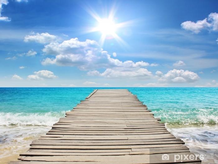 Afwasbaar Fotobehang Zee reizen in de vakantie - Pier