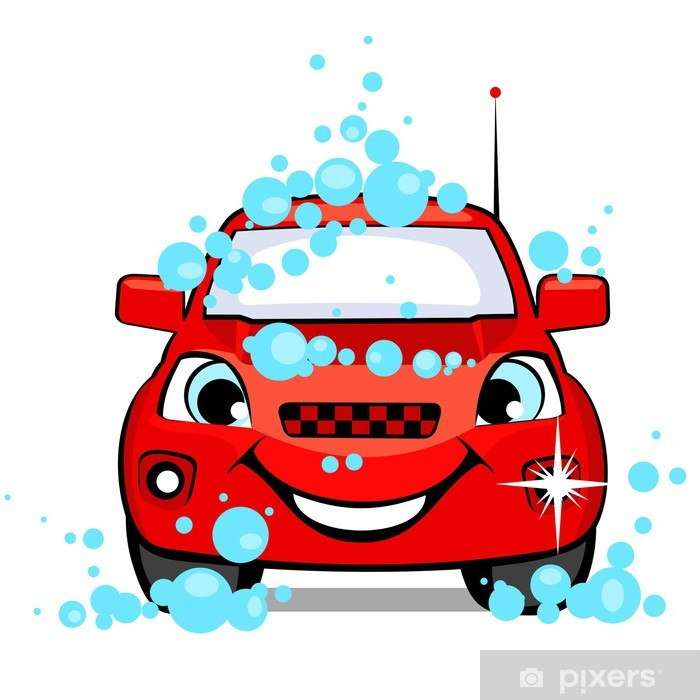 The car on a car wash Vinyl Wall Mural - Sales