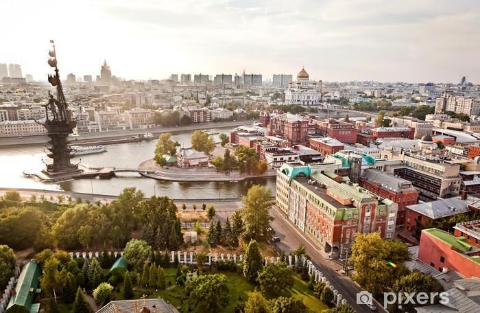 Vinilo Pixerstick Aerial ciudad de Moscú panorama - Urbano