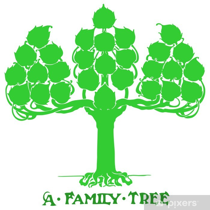Fototapeta winylowa Drzewo genealogiczne - Wartości rodzinne