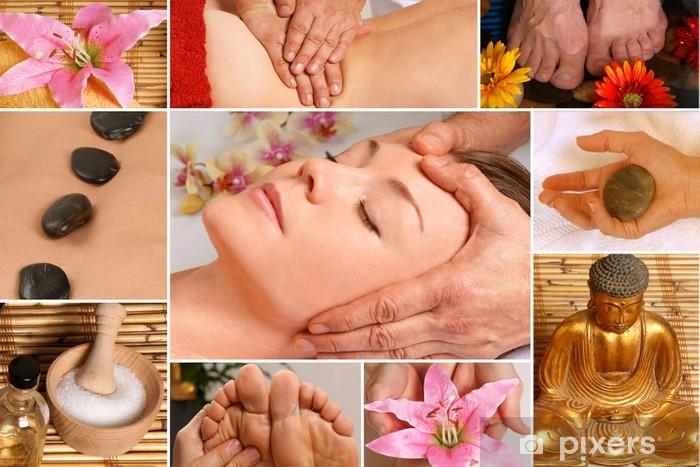 Pixerstick Sticker Collage Wellness - Schoonheid en Lichaamsverzorging
