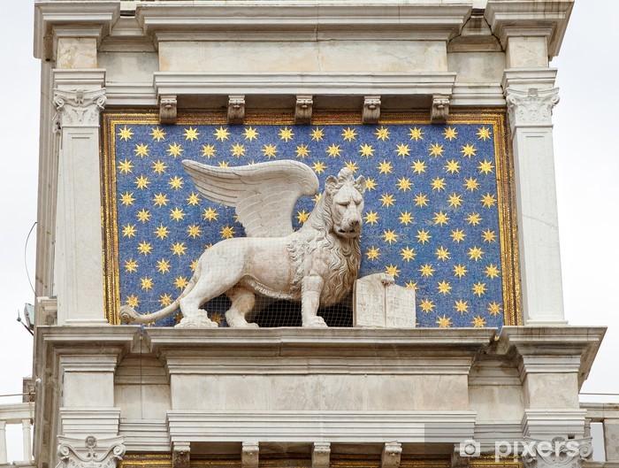 Vinyl-Fototapete Der venezianische Löwe, Piazza San Marco, Venedig - Europäische Städte