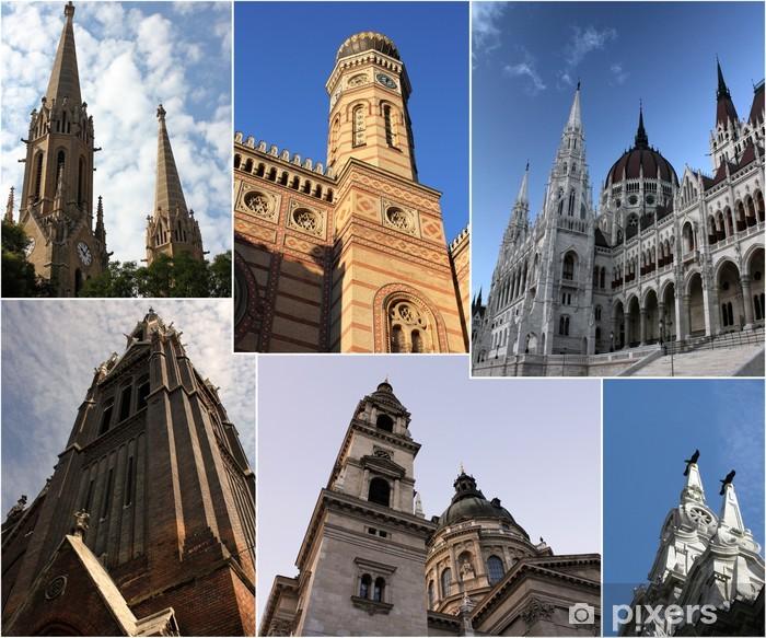 Plakat Budapeszt przez dzień - collage - Europa