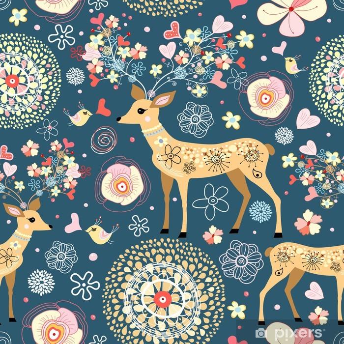 Plakat Tekstura jest wspaniały jeleń kwiat - Style