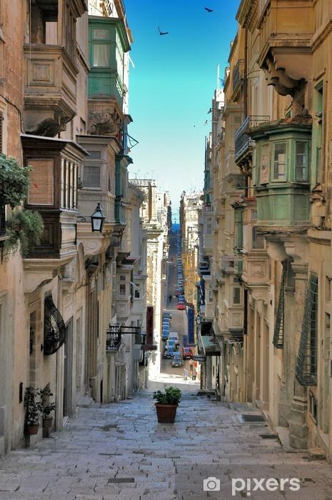 Pixerstick Sticker Lang uitzicht op maltese straat - Thema's