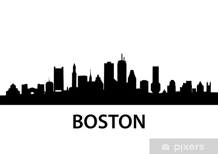 Skyline Boston Vinyl Wall Mural - America