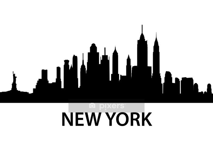 Skyline New York Wall Decal - Wall decals