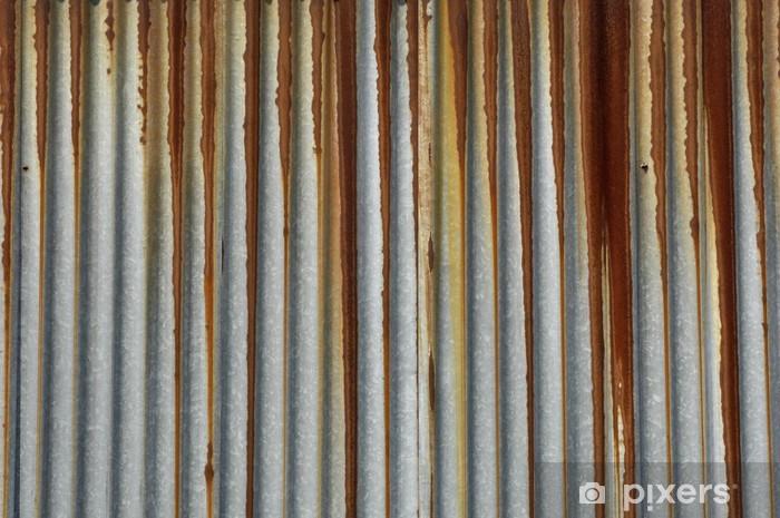 texture métal, tôle ondulée rouillée Vinyl Wall Mural - Other Feelings