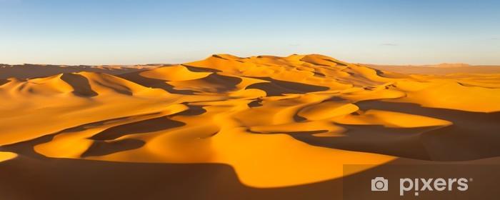 Naklejka Pixerstick Panorama Desert - Wydmy - Murzuq Pustynia, Sahara, Libia - Tematy