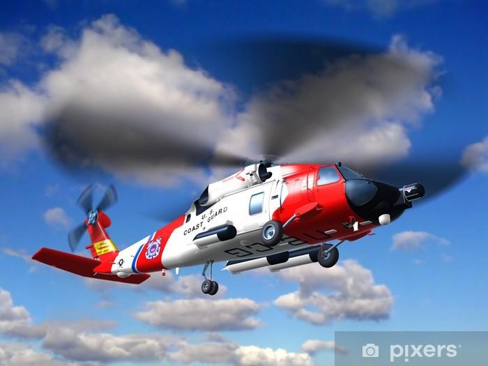 Helicopter coast guard Jayhawk Vinyl Wall Mural - Air