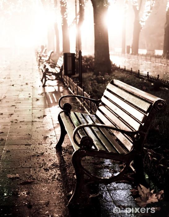 Fototapeta zmywalna Stanowisku w nocy aleja z sygnalizatorów w Odessie, - Style