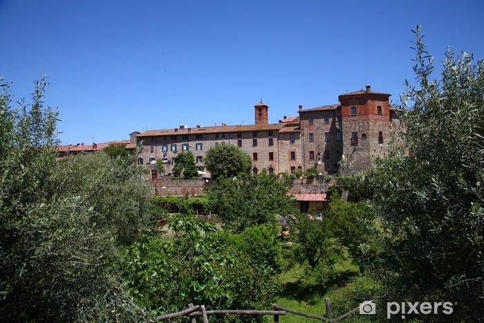 Paciano, antico borgo medievale dell'Umbria Pixerstick Sticker - Europe