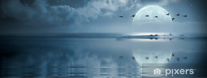 Fototapeta winylowa Fullmoon nad oceanem - Tematy
