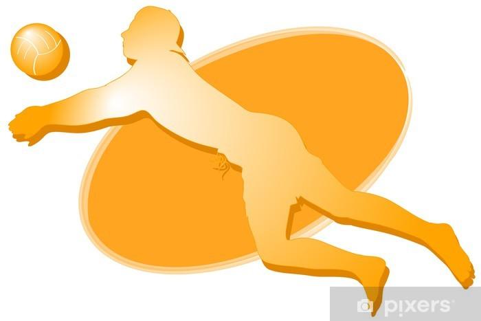 Sticker Pixerstick Joueur de volley-ball: icône - Sports individuels