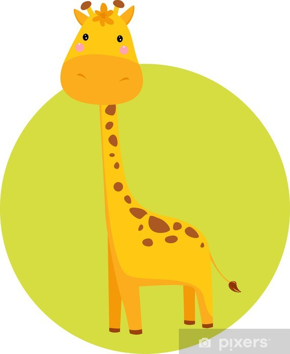 Papier peint vinyle Cute Giraffe - Mammifères