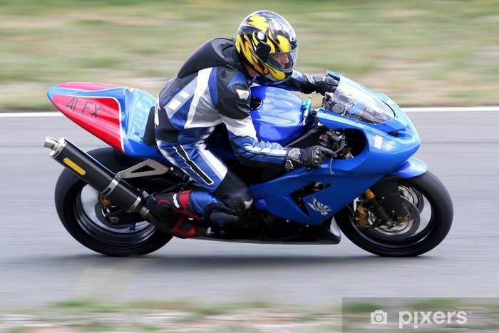 Pixerstick Aufkleber Motorbike race - Extremsport