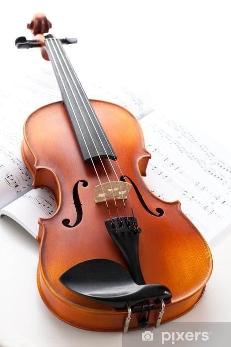 Fotomural Estándar Instrumentos musicales: violín - Música