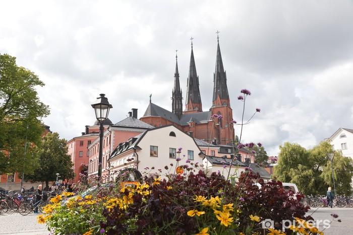 Sticker Pixerstick La célèbre cathédrale d'Uppsala - Europe