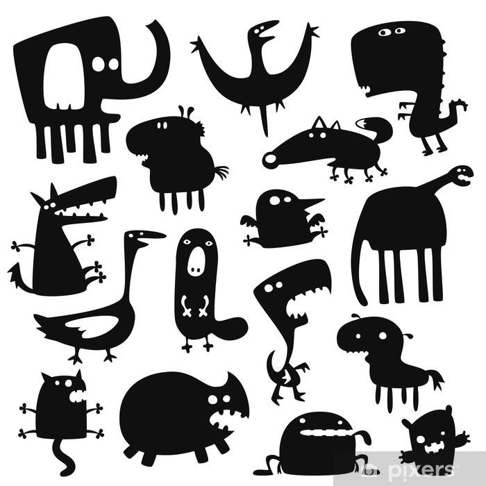 Vinilo para Nevera Funny animals - Destinos