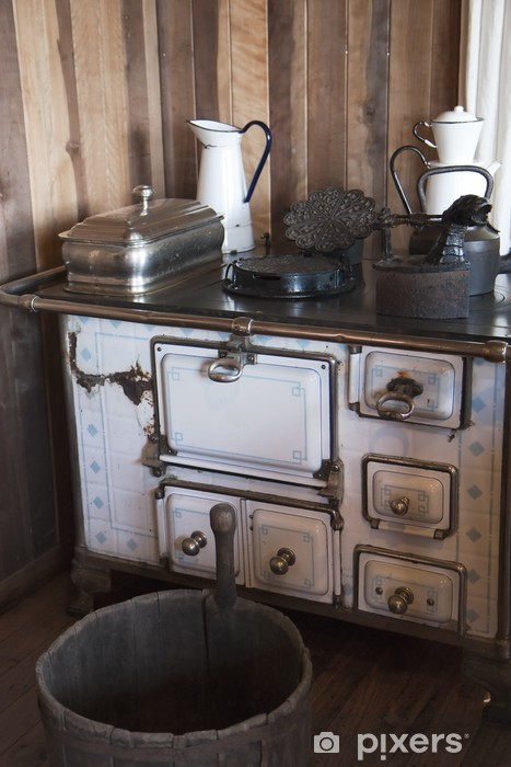 Carta da Parati in Vinile Cucina Vintage