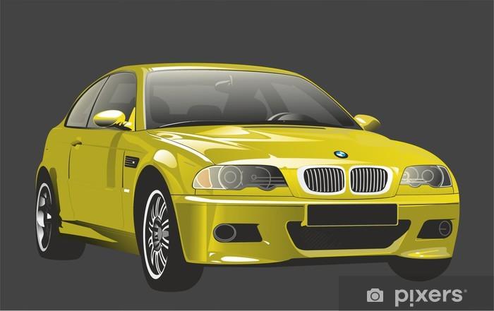 Vinil Duvar Resmi Araç BMW M3 gibi bakıyor -