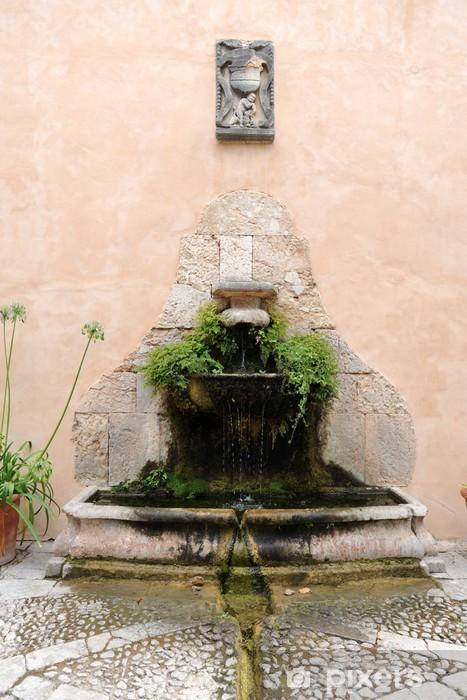 Nálepka Pixerstick Fontaine des Jardins d'Alfabia à Bunyola - Majorque - Evropa