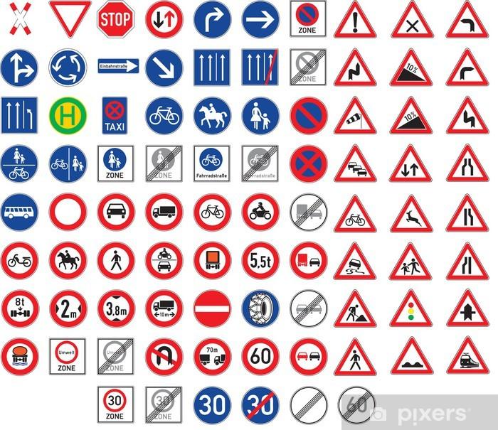Adesivo I Segnali Stradali E Cartelli Di Pericolo Impostati Pixers