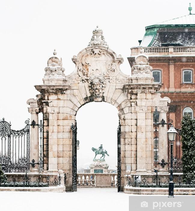 Naklejka Pixerstick Słynny pałac w Budzie w Budapeszcie - Europa