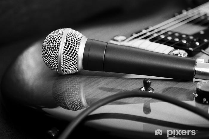 Fototapeta winylowa Gitara i mikrofon - Hip Hop