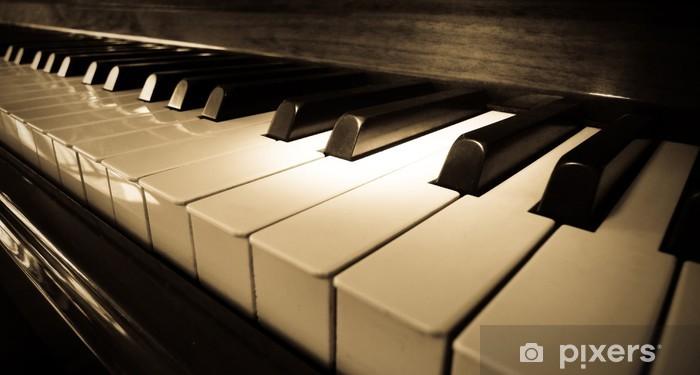 Nálepka Pixerstick Zavřete záběr klávesnici klavíru - Jazz